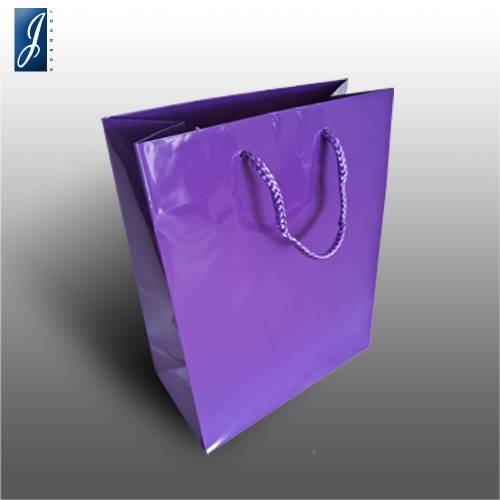 Currency small violet gift bag