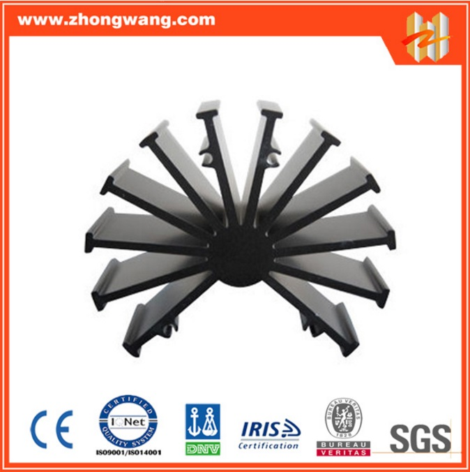 Aluminum Extruded Radiator or Heat Sink with Black Anodized Surface (ZW-HS-004)