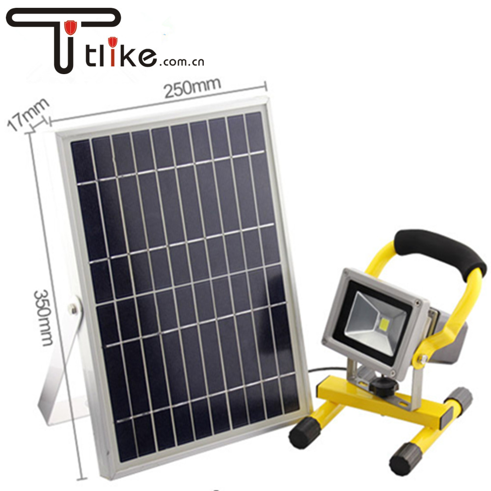 LED Outdoor Security Rechargeable Light Solar Flood Light Emergency Lights