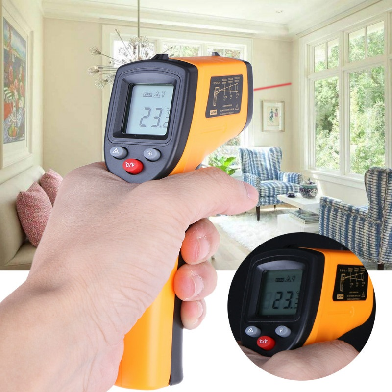 GM320 Infrared Thermometer Non-Contact Temperature Meter Pyrometer IR Laser Point -50~380 Celsius In