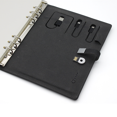 Power Bank notebook with USB Flash Drive Notebook