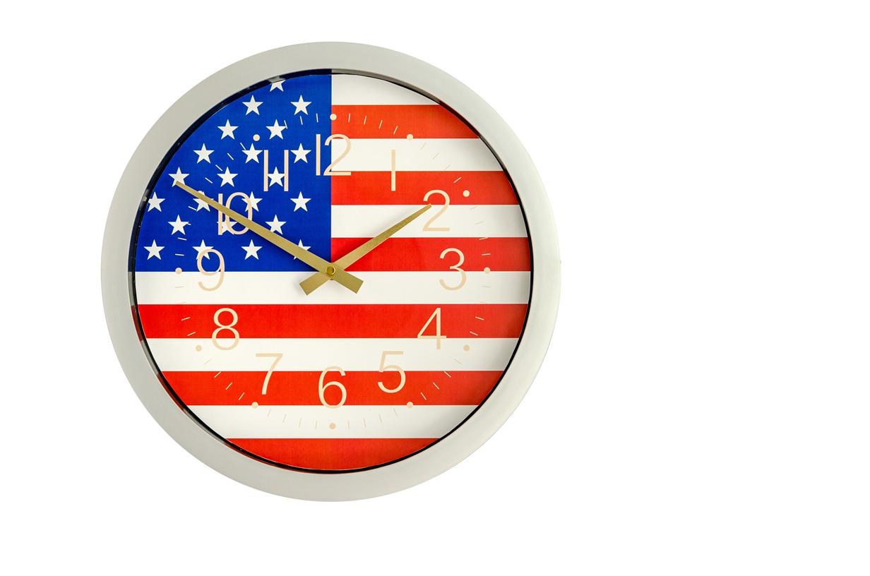 """14"""" Patriotic framed wall clock"""