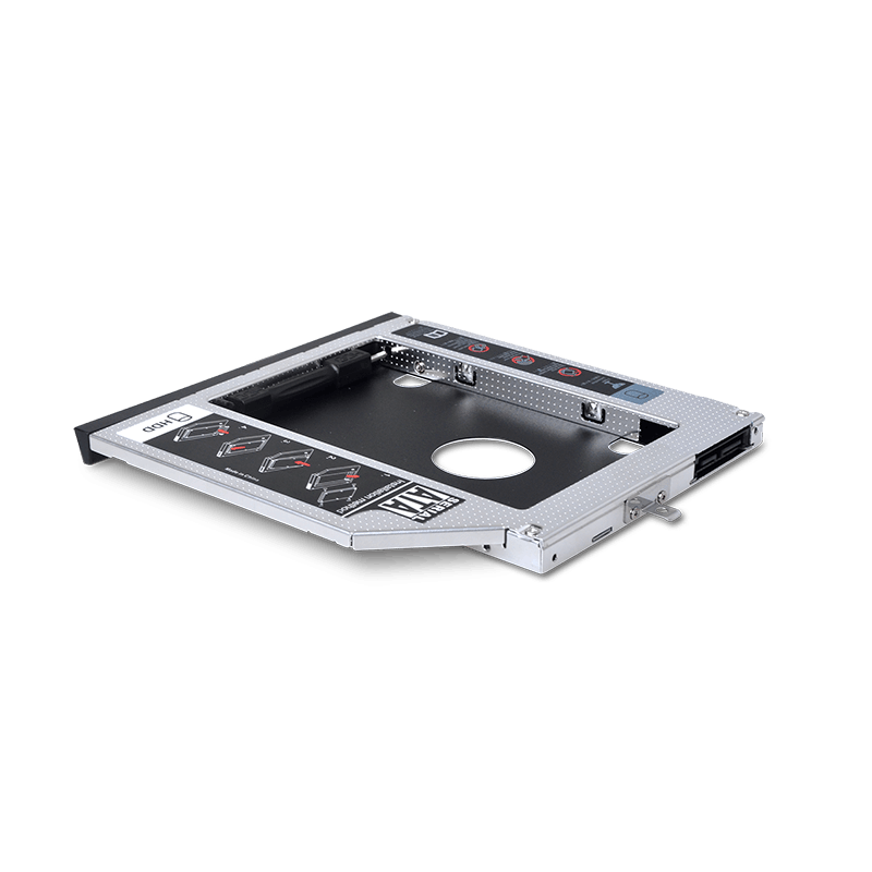 2.5 inch hdd lan enclosure ssd hard drive case sata 2nd hdd caddy