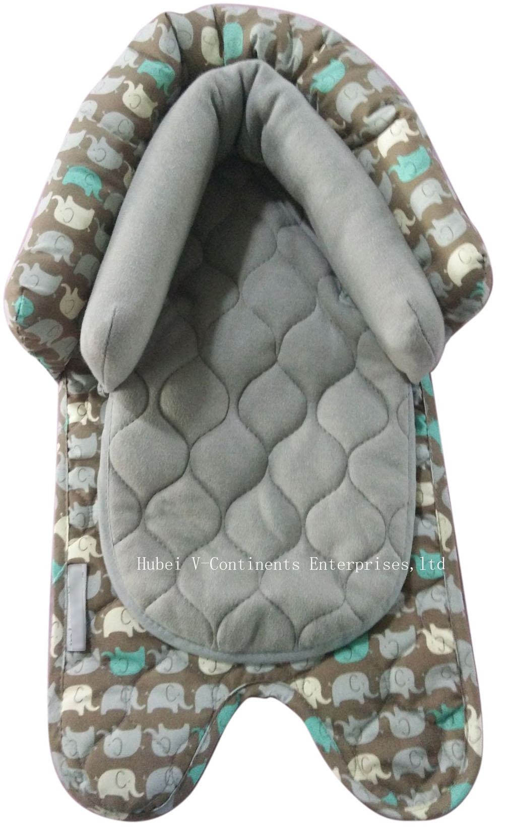2 in 1 Head Support for Baby Infant in Elephant Pattern