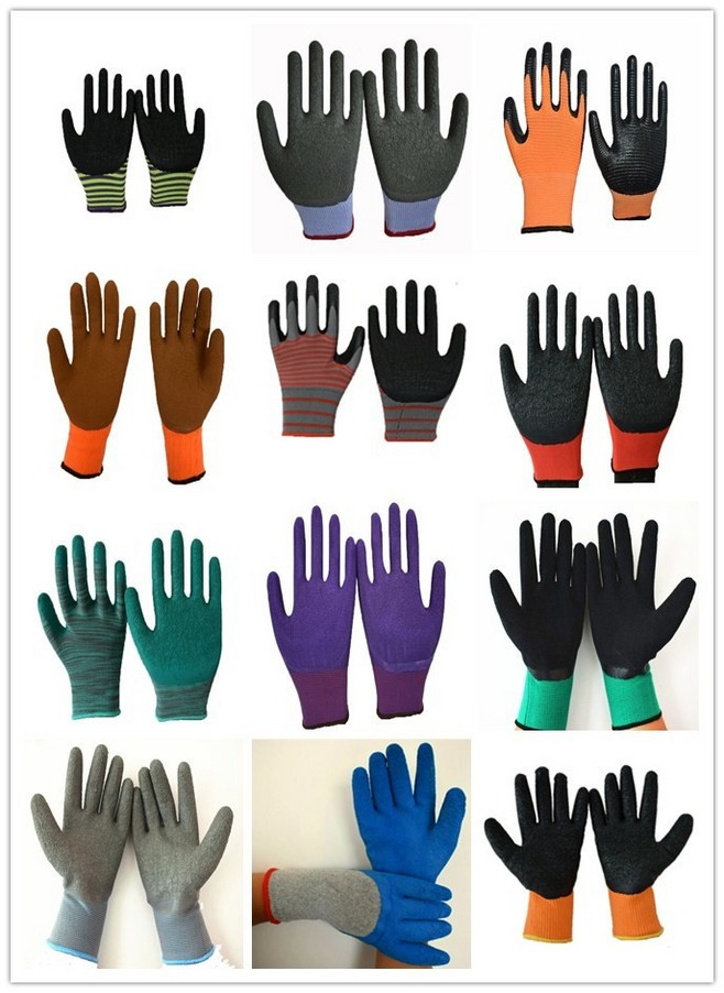Finger cover Industrial Equipment Latex cotton lined rubber gloves