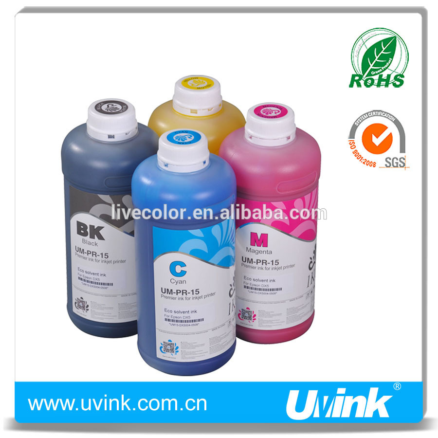 UVINK u series real eco Solvent ink for KM 512i