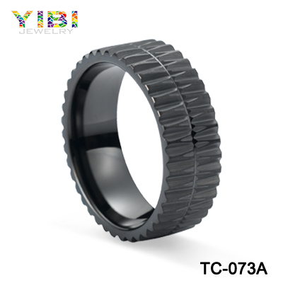 Promotion Black Plating Gear Shape Jewelry Ring