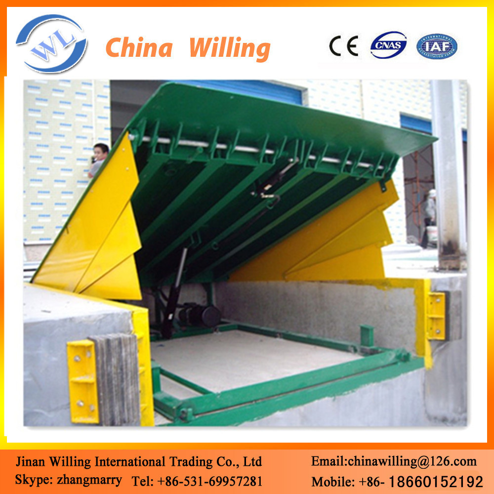 Truck loading unloading ramps hydraulic stationary dock ramp