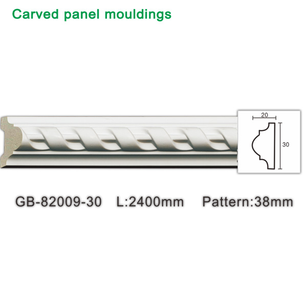 Small pu moulding for wall frame design