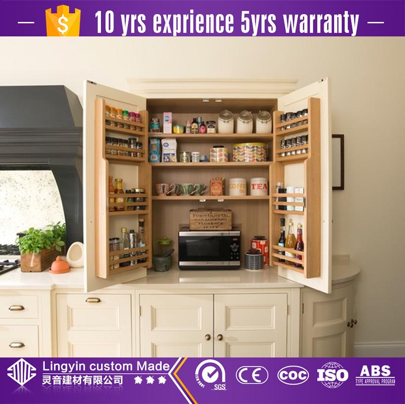 wood kitchen organizer and cupboard