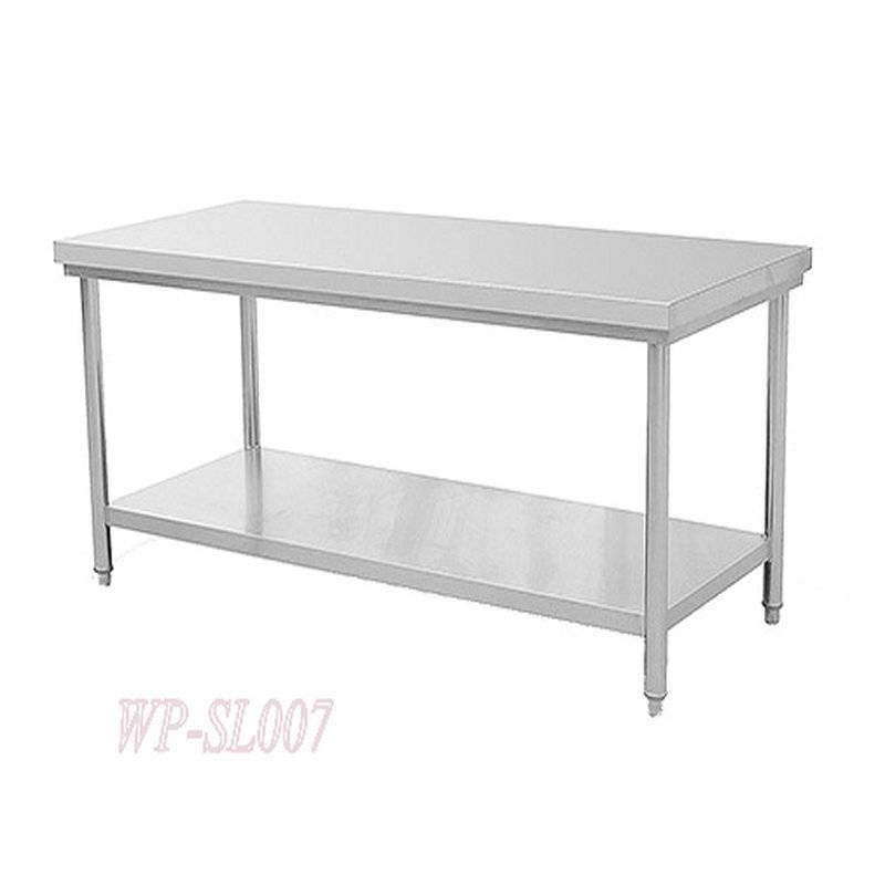 Stainless Steel Commercial Kitchen Working Table with Under Shelf ...