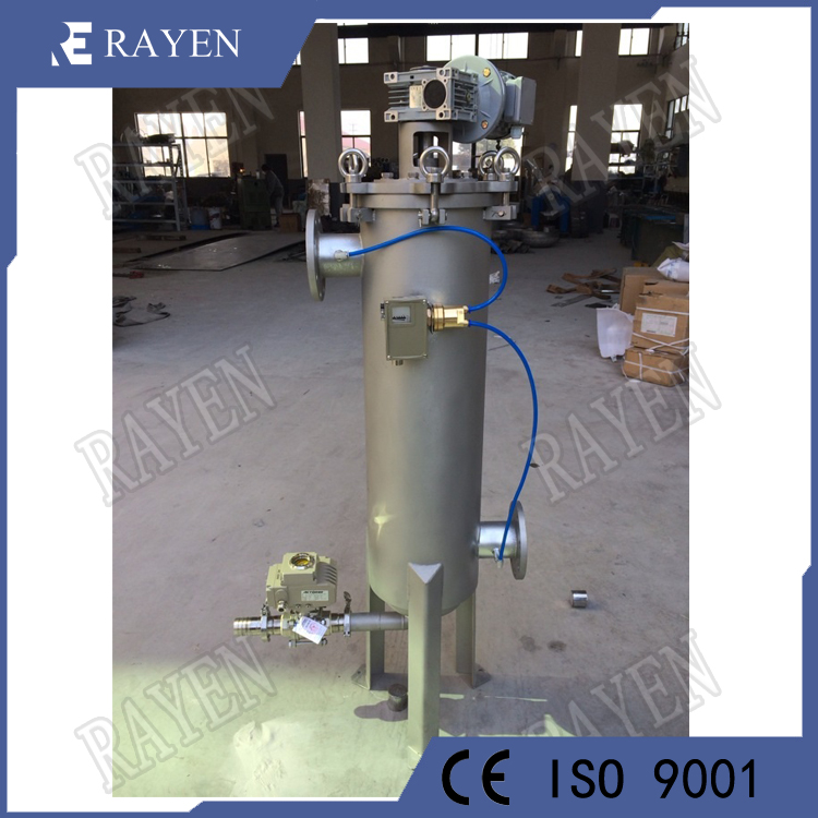 Stainless steel brush filter self cleaning filter