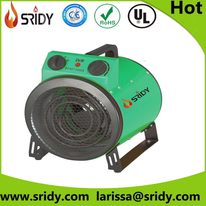3 kw electric round shape heater air heating equipment