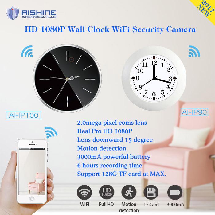 China Factory Camera Hot Sex Video Wall Clock Security Wi-Fi Camera Hd DVR Recorder