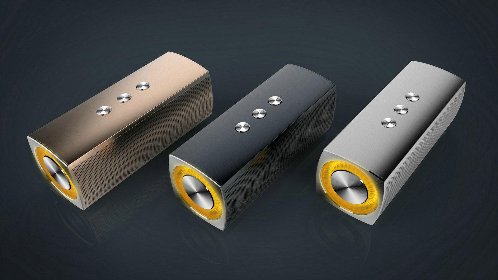 Rectangular Metal Case Bluetooth Spear With DSP Sound Flashing Light