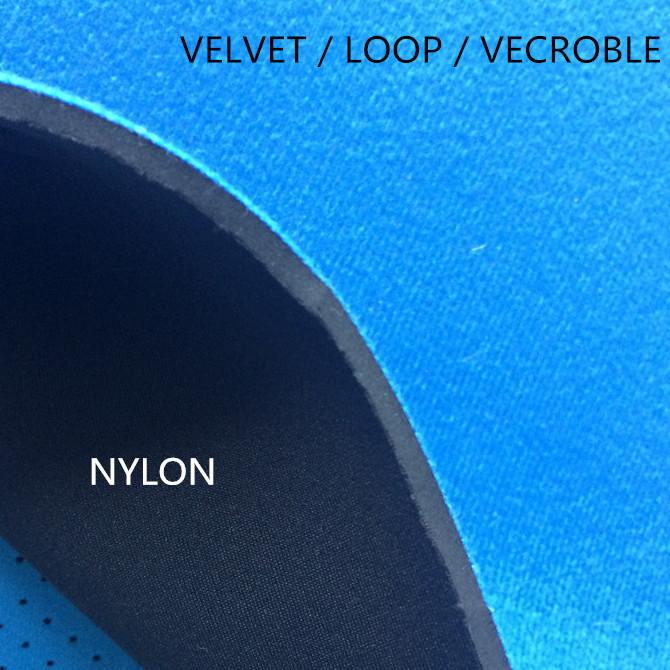 neoprene with velours crochet hook fabric fastening press together hook loop velvet fastener velluti
