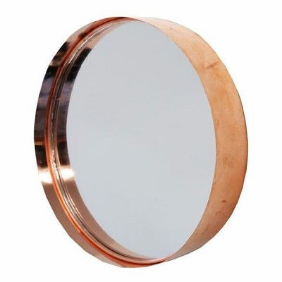 Wall Hanging Round Or Square Cake Tin Mirror Copper Black With Storage