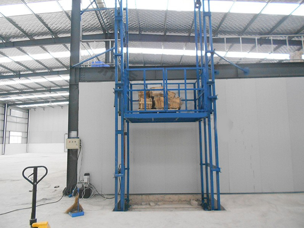 Guide rail lift table home facotry elevator