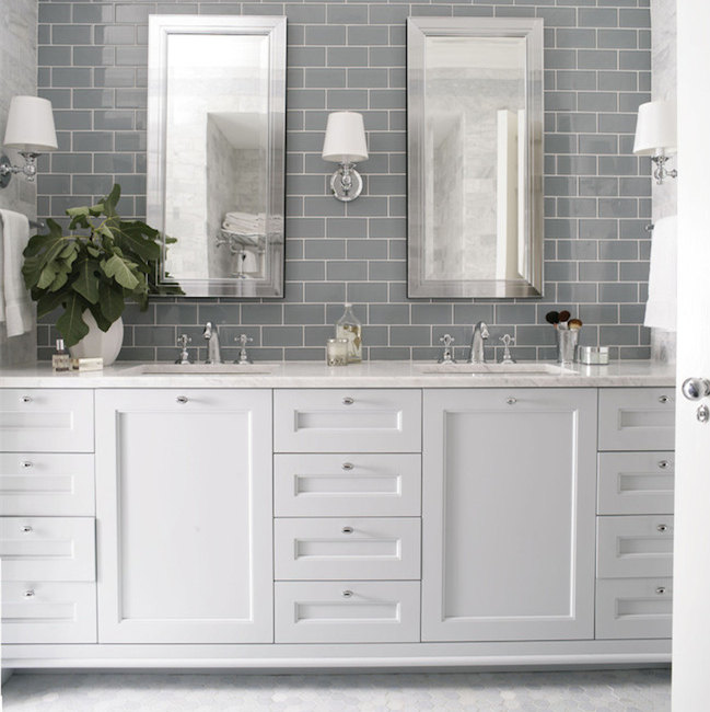 American Modern Style Solid Wood Bathroom Vanities Cabinet with Countertops