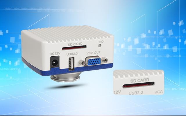 1080P VGA microscope camera SD card recorder