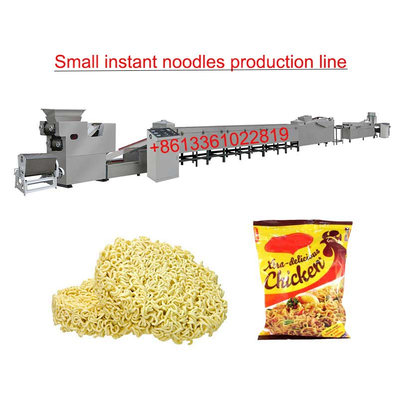 Small fried instant noodles making machine production line