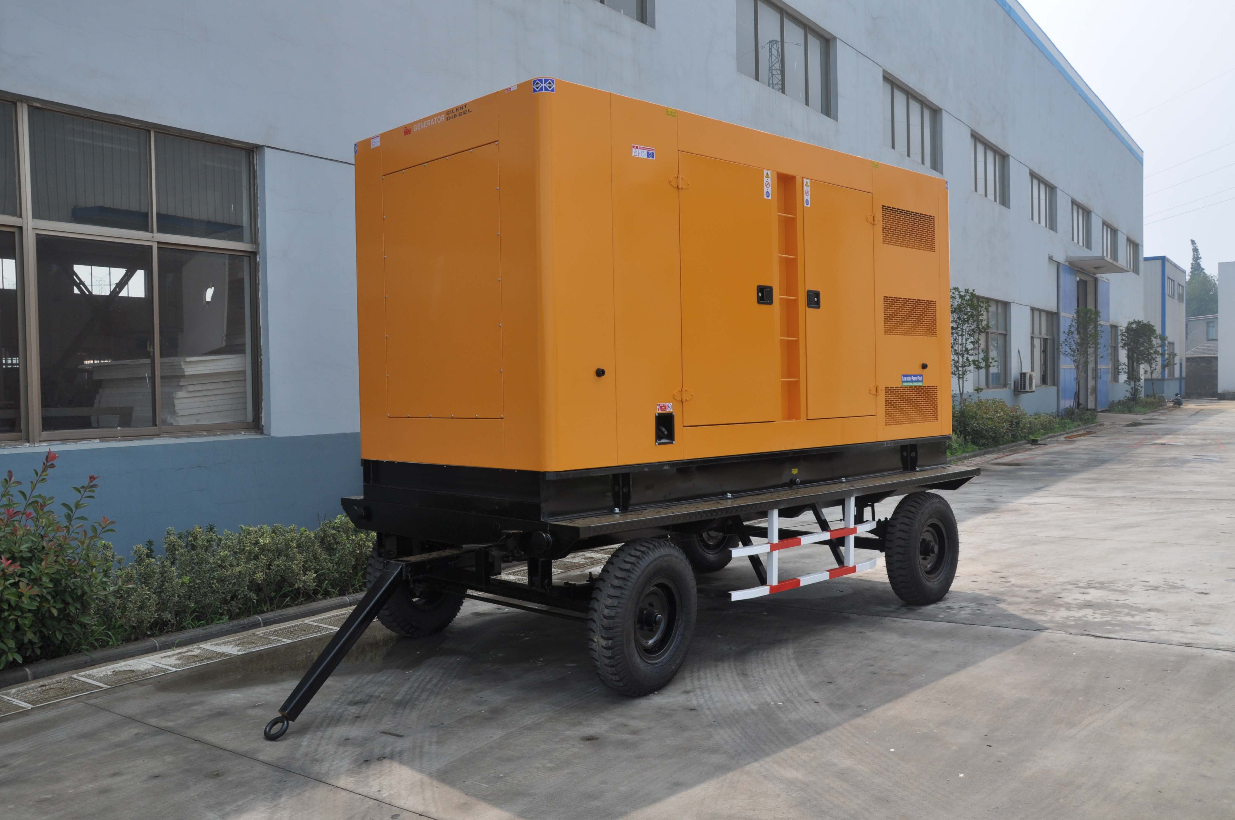 trailer generator from 20kw to 200kw with variety brand engines and alternators three phase