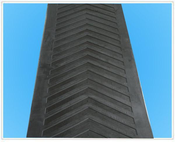 Z type cleated pattern belt conveyor