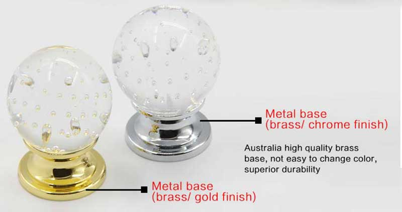 Regular bubble crystal pull handle