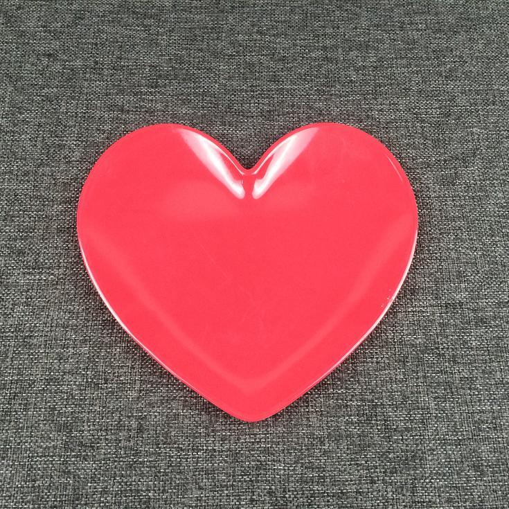 heart shape mealmine plate