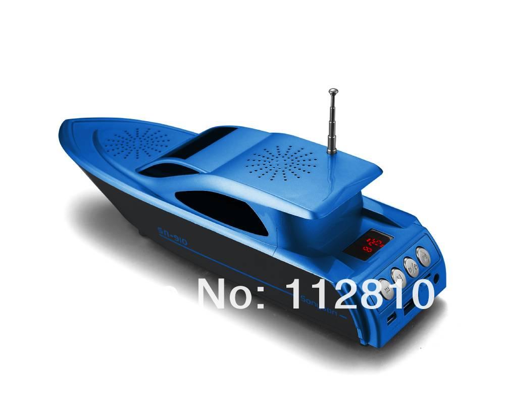 New design portable yacht speaker usb and audio speaker with fm radio led light sonyson sn - Porta cd design ...