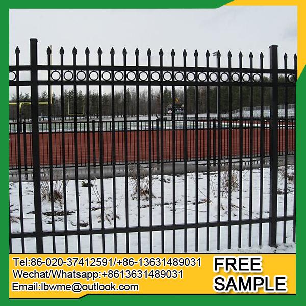 Steel decorative picket fence ornamental metal fencing