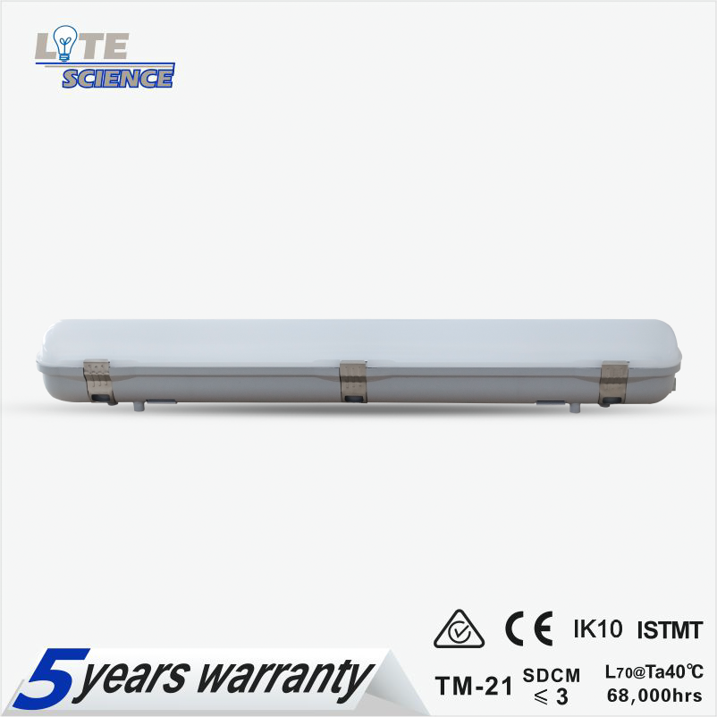 IP65 Led Tri-proof Light Suitable for Warehouse/Parking Lot/Tunnels