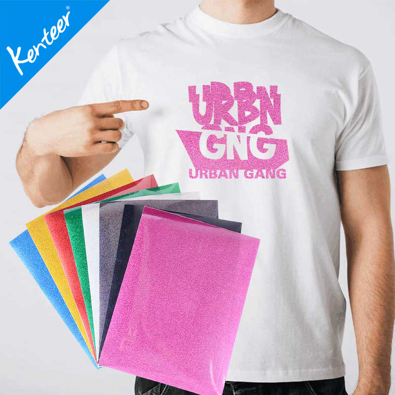 Kenteer good quality heat transfer vinyl for clothing with A4 size