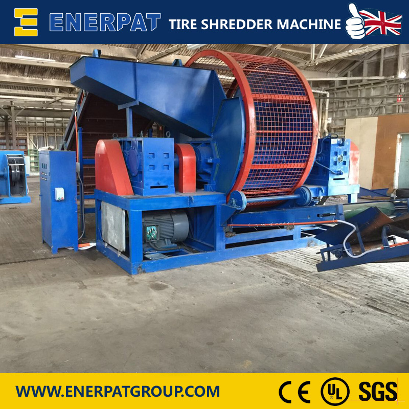 Environment Friendly Used Tire Shredding Plant for Tire Scraps and Rubber