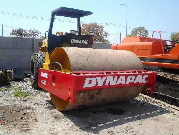 Used Dynapac CA25D single drum road roller in cheap price for sale