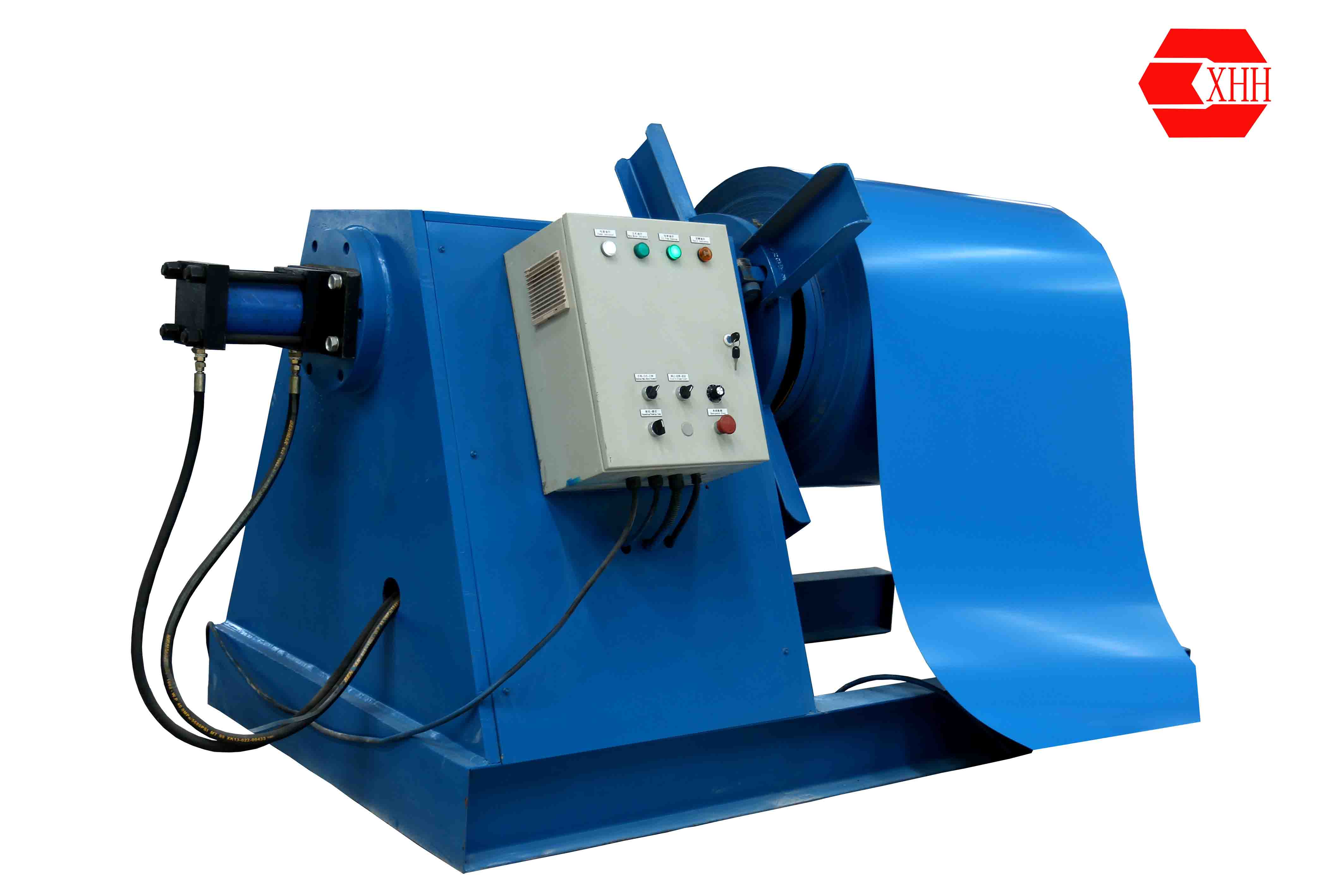 Hydraulic steel coil decoiling machine for sale