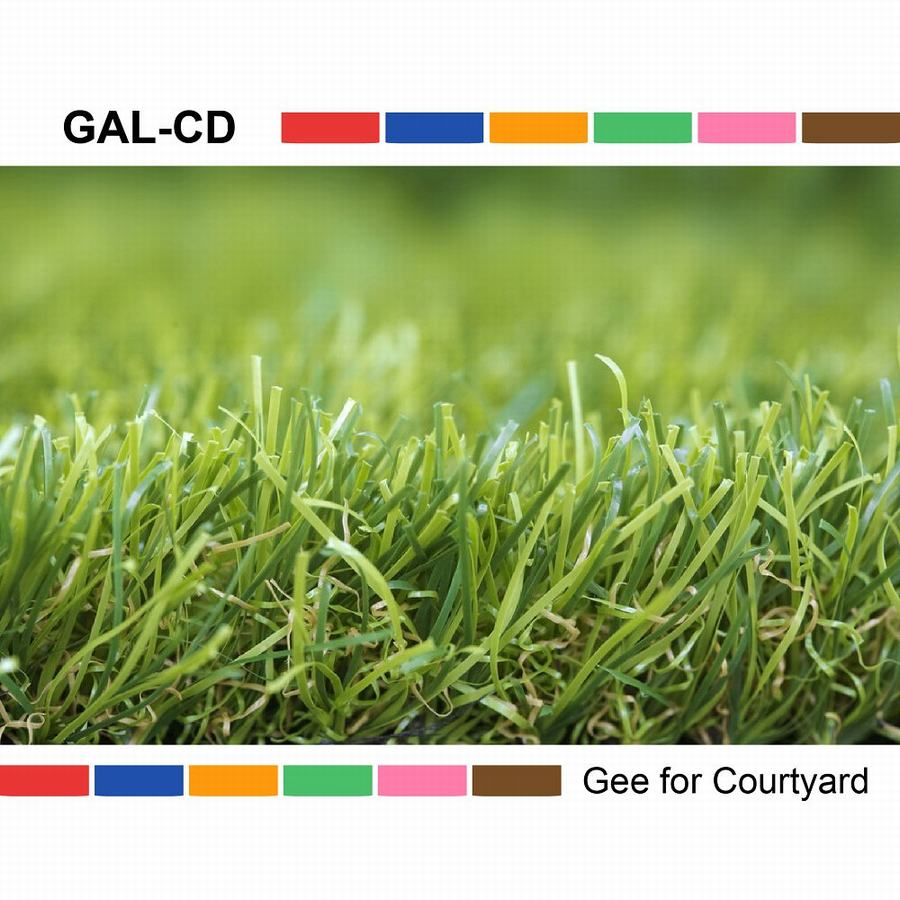 Natural looking U shape landscaping artificial grass turf for home garden