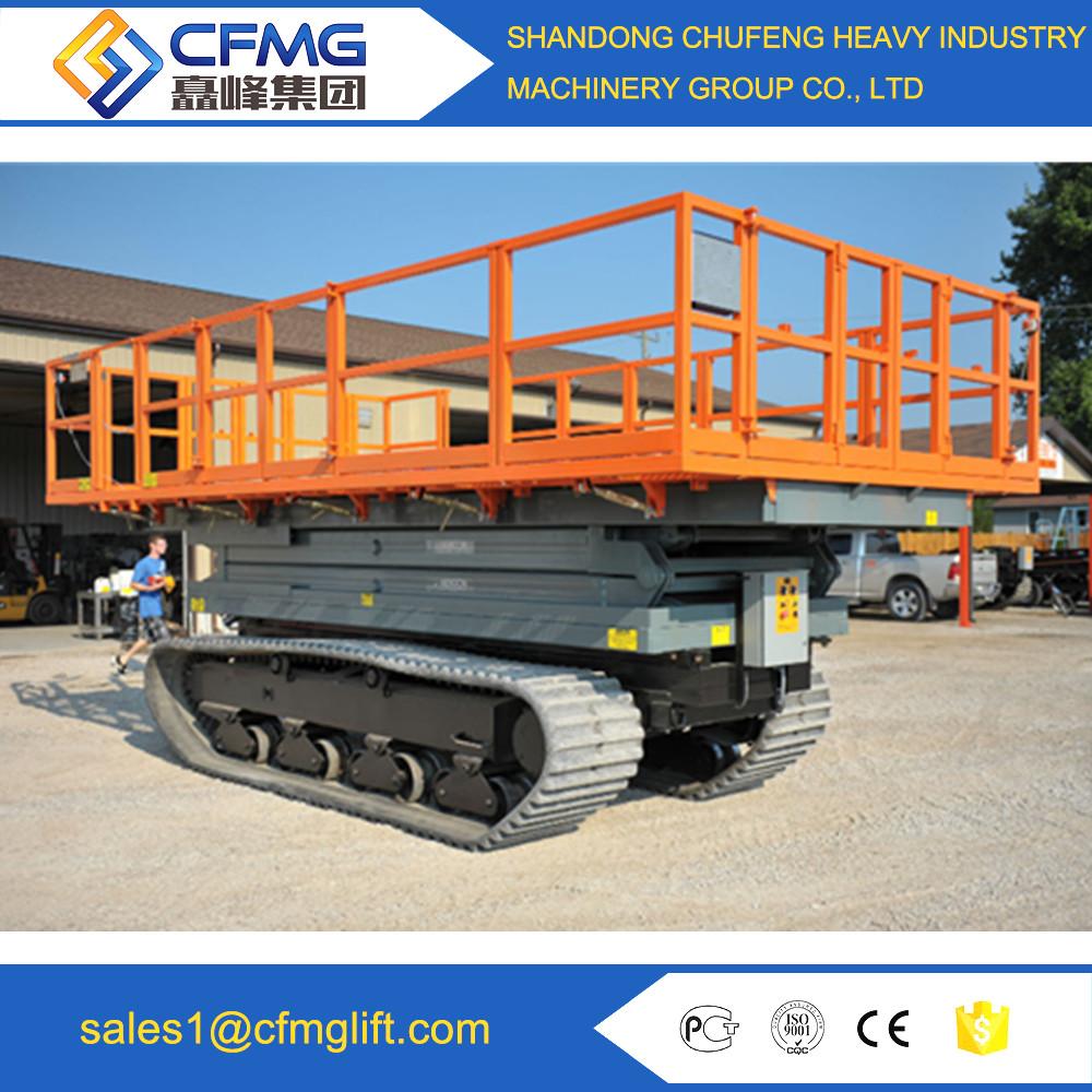 6m height Electric Track Crawler Scissor Lift/hydraulic lift platform for sale