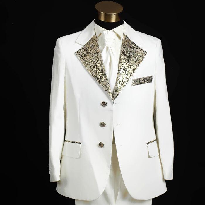 2017 designer white color wedding suits for men