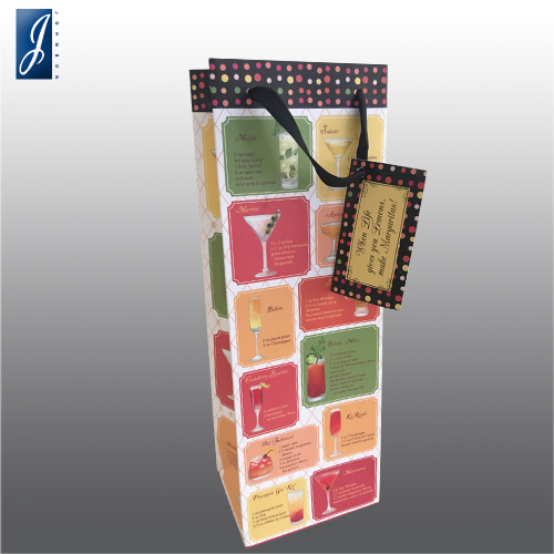 Customized wine packaging paper bag for TRUE2