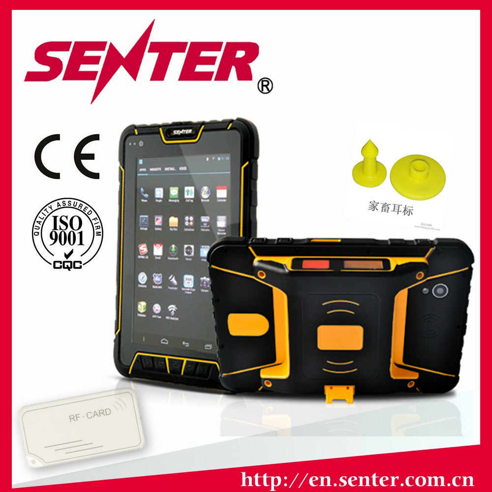 ST907 7 inch Android 5.1 OS waterproof rugged tablet PC with LF/ NFC/ UHF RFID Reader