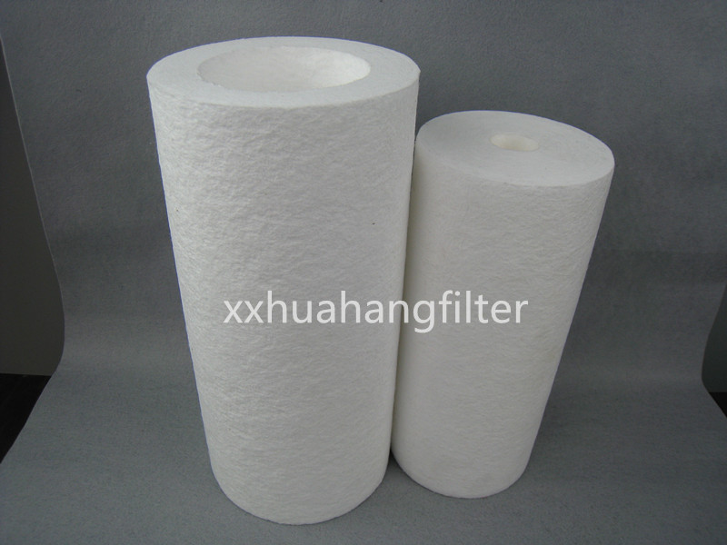 PP melt blown bacterial water filter cartridge for water purification systems