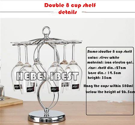 Modern style Red wine cup shelf