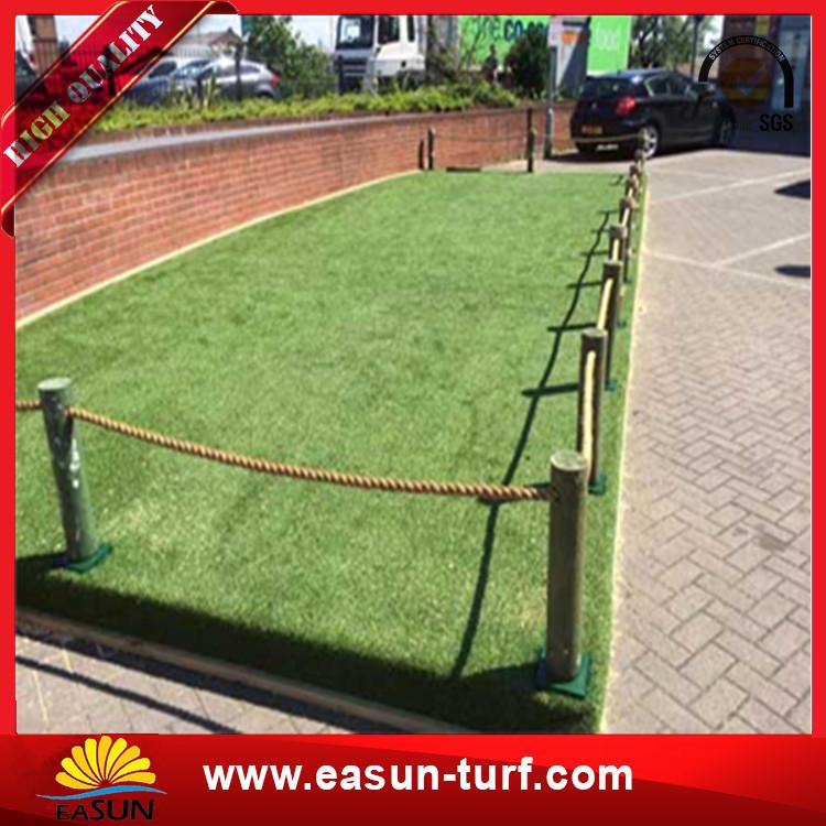 Bestartificialsynthetic greenturfcarpet lawn grass to roof garden-Donut