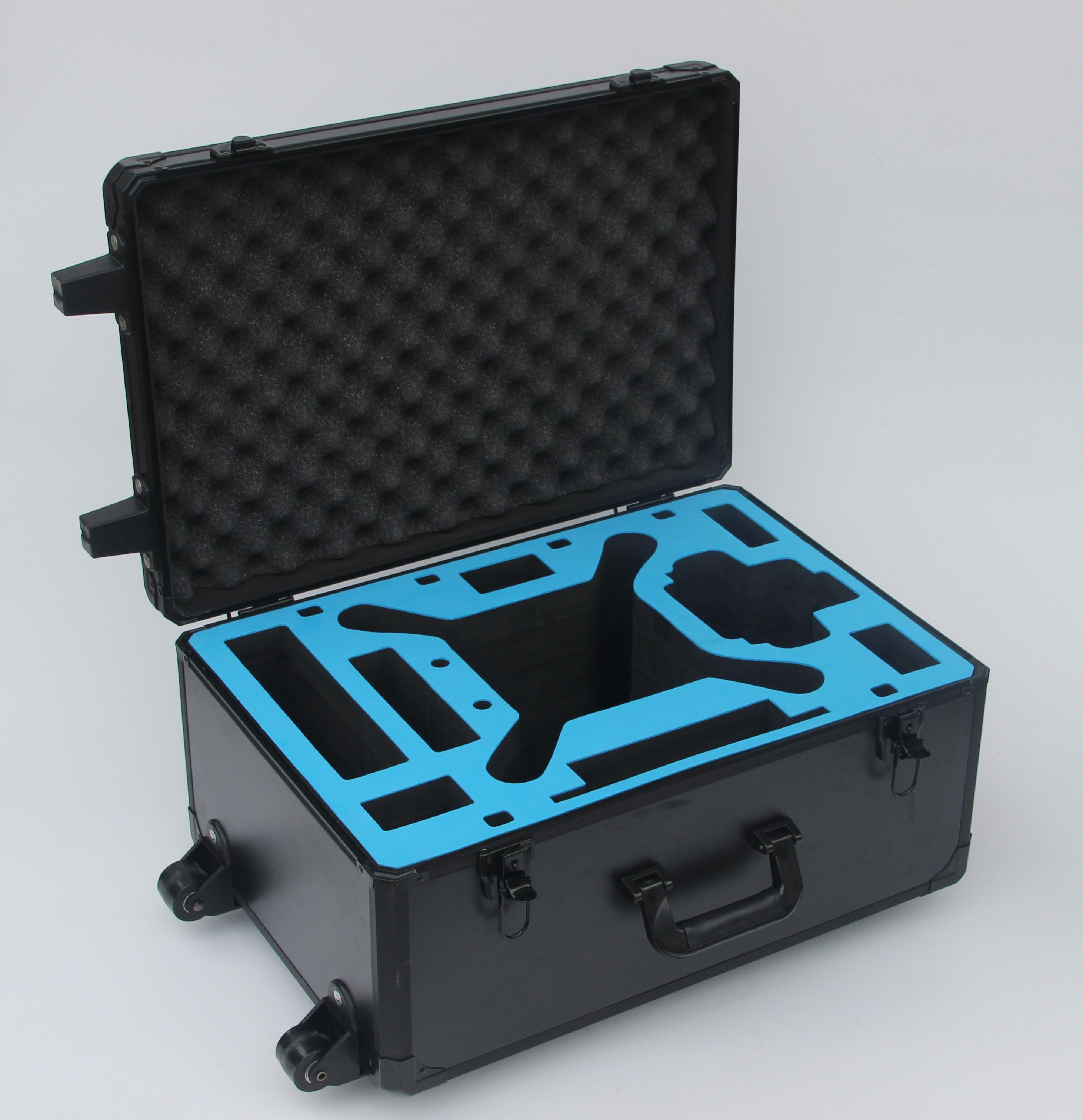 Black Trolley DJI Phantom 3 Aluminum Hard Foam Storage Case With Wheels