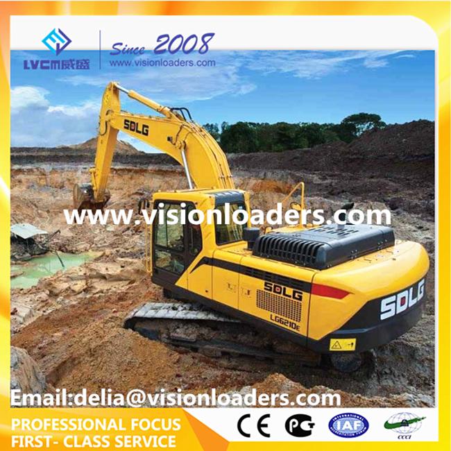 SDLG Excavator LG6210E Hydraulic Crawler LG6210E Excavator for sale