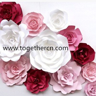 pretty paper flower for wall decoraion