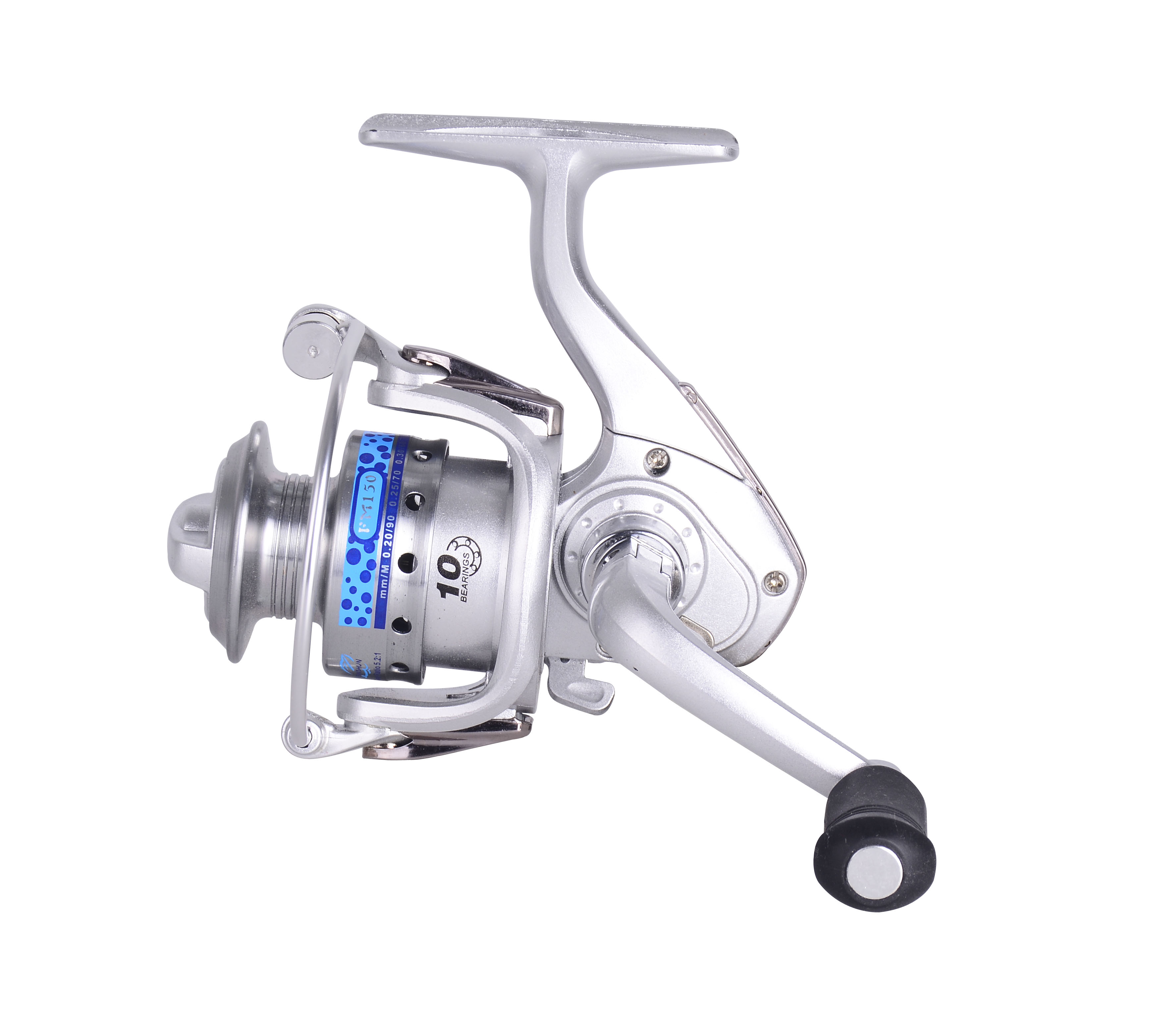 Chinese Small Spinning Silver FM150 Spinning Fishing Reel