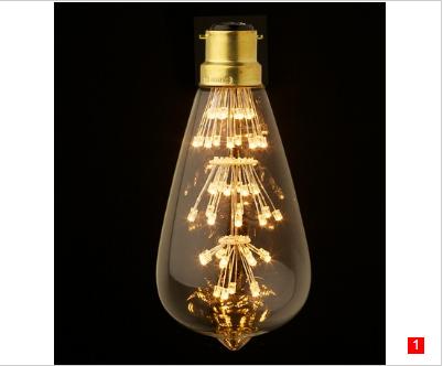 ST58 LED Edison Teardrop Clear bulbs