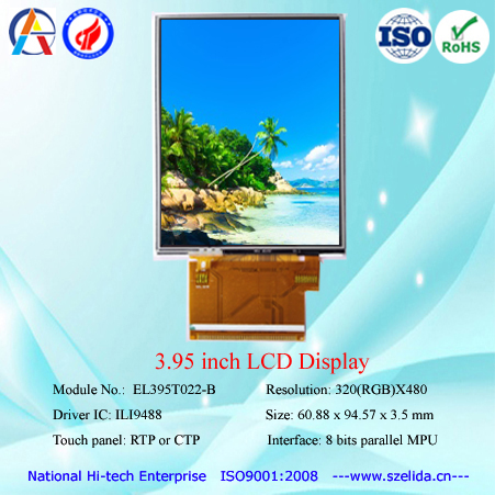 top quality 3.97 inch ips display with 480x800 resolution